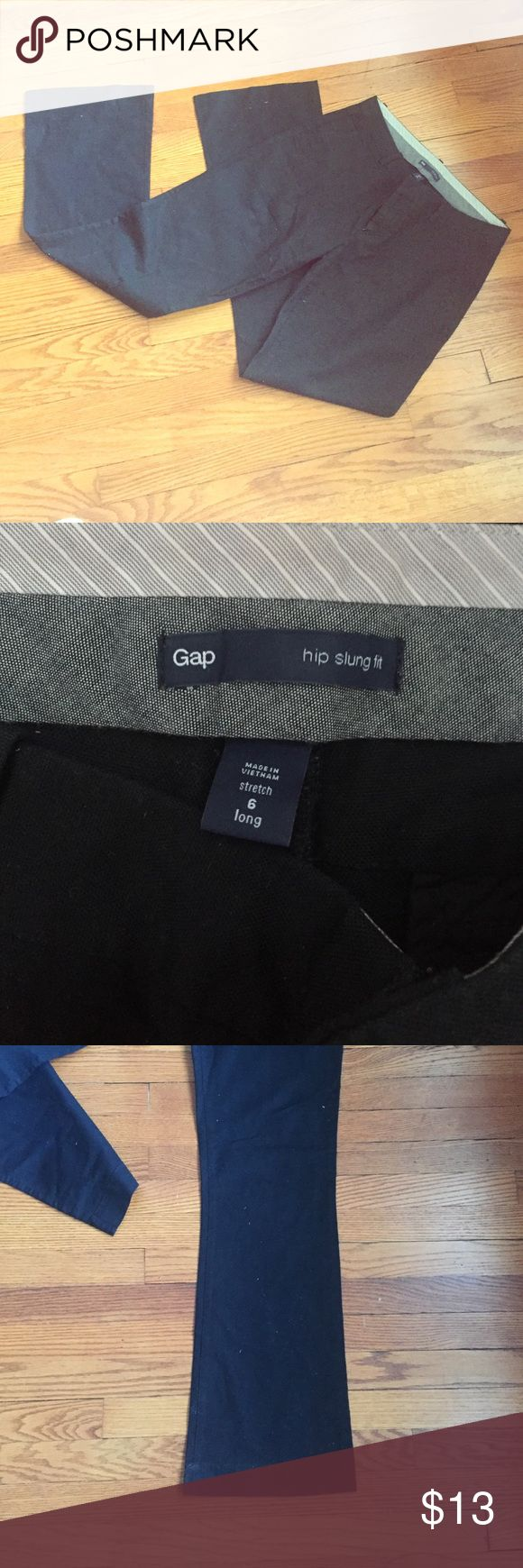 GAP Womens straight leg black pants Gap women's straight leg black pants. Size 6/City fit. Excellent condition! Amazing work pants GAP Pants Straight Leg
