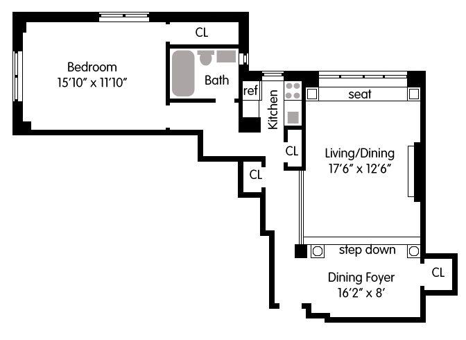 Co Op For Sale In Upper West Side, Manhattan For $699,000, 1 Bed · Upper  West SideHome Floor PlansManhattan Part 88