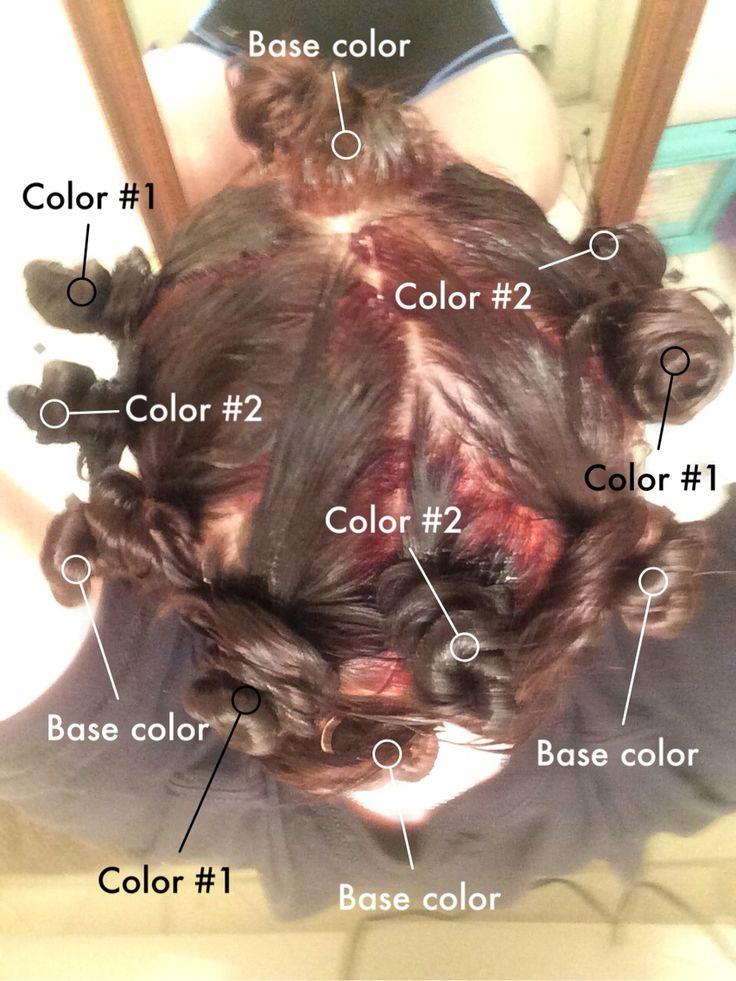 Pinwheel hair color technique broken down.
