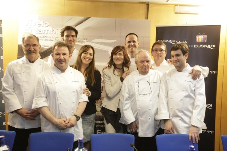 Euskadi Saboréala Subijana, Berasategui, Senen, Iñigo Lavado, Arzak, Aduriz y Josean Alija