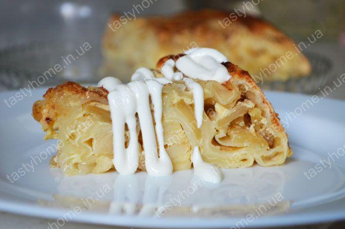 Пирог из лаваша с яблоками - простой в приготовлении, недорогой диетический пирог из лаваша. Пошаговый рецепт с фото.