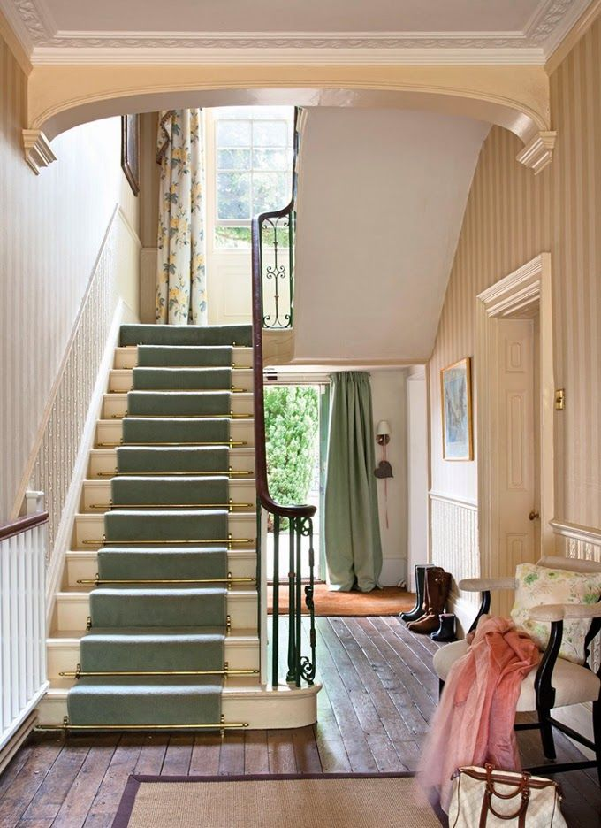 House of Turquoise: Colorful English Country Home entrance hall