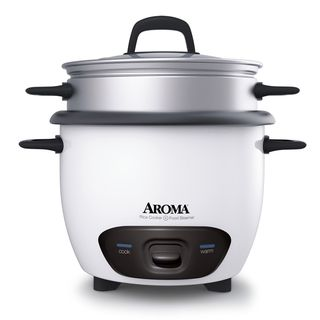 @Overstock - Aroma 3-cup Rice CookerAroma 3-cup Rice Cooker - Simplify your meal preparation with this easy to use three-cup rice cooker. Featuring push button operation and simultaneous vegetable streaming, this rice cooker will offer a versatile and convenient way to prepare meals with greater ease.  http://www.overstock.com/Home-Garden/Aroma-3-cup-Rice-CookerAroma-3-cup-Rice-Cooker/6150662/product.html?CID=214117 $26.99