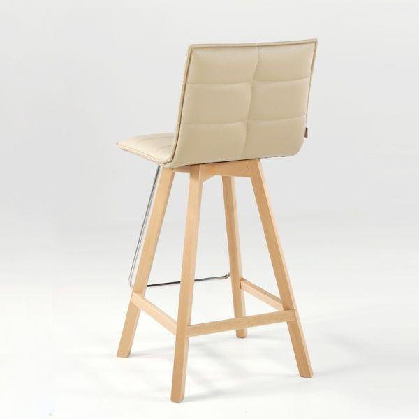 Tabouret de bar ou snack design Iris - Structure bois - 4 Pieds : tables, chaises et tabourets