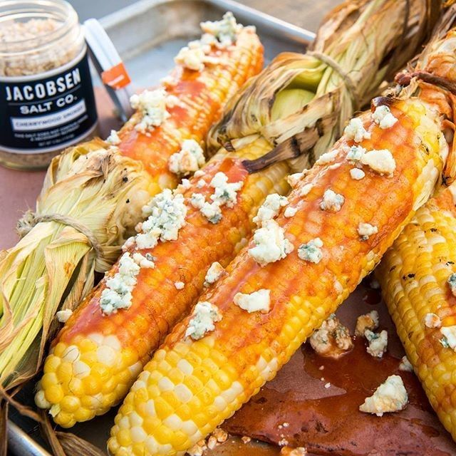 Grilled Buffalo Blue Cheese Corn | Traeger Wood Fired Grills