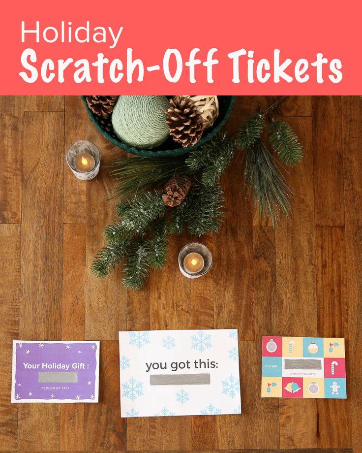 Holiday Scratch-Off Tickets. Sponsored by Scotch.