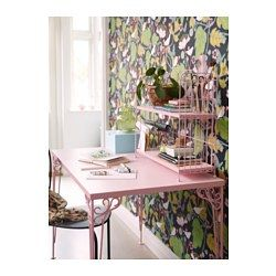 IKEA - FALKHÖJDEN, Desk, pink, , The melamine surface is durable, stain resistant and easy to keep clean.
