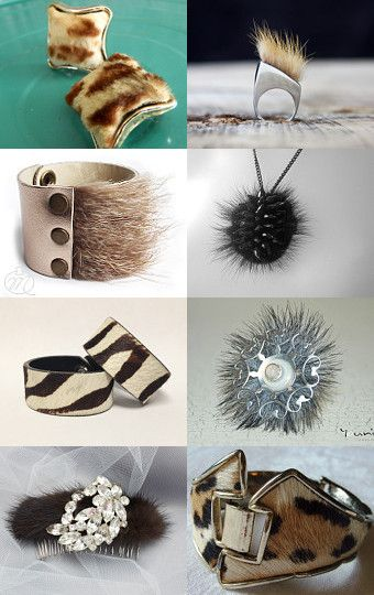 Fur Real Fashion - Amazing pieces of jewelry made out of fur!