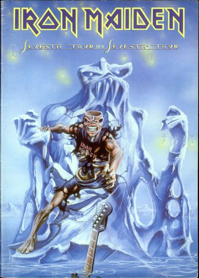 Iron Maiden Seventh Tour Of A Seventh Tour - Eddie Cover UK tour program