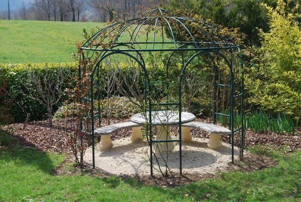 39 best images about kiosque de jardin on pinterest - Gloriette de jardin en fer forge ...