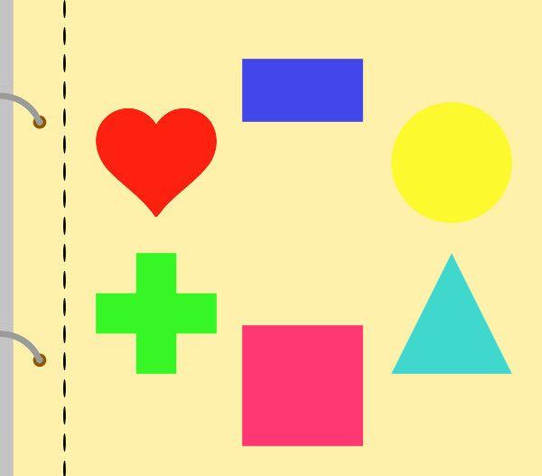 Tvary jsou odnímací, dítě je následně přiřazuje. Snadnější varianta: každý tvar má jinou barvu. Dítě se může orientovat nejen podle tvarů, ale také mohou pomoci barvy. Těžší varianta: tvary jsou v jedné barvě, dítě se tak musí orientovat pouze na základě tvarů.