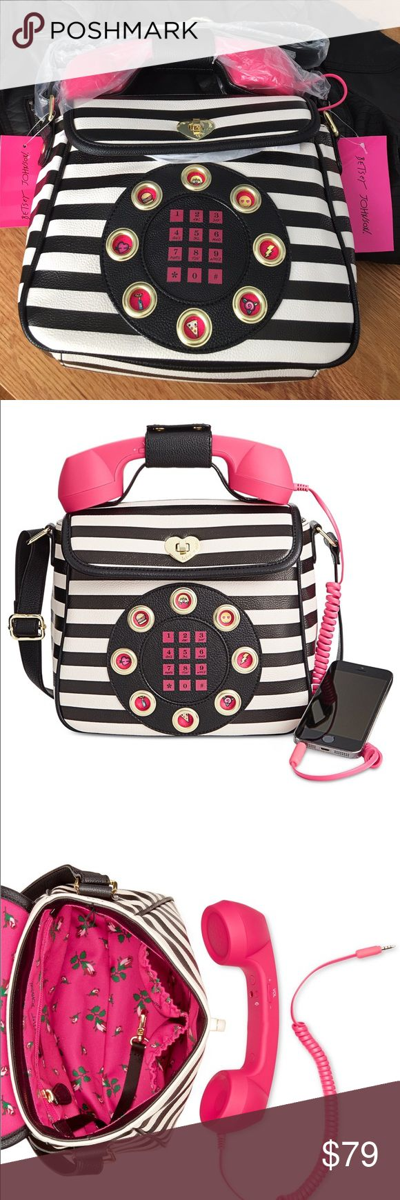 Betsey Johnson phone cross body purse! I am obsessed with this:) The phone is detachable and can be attached to your cell to work as a real phone! So much fun:) Betsey Johnson Bags Crossbody Bags