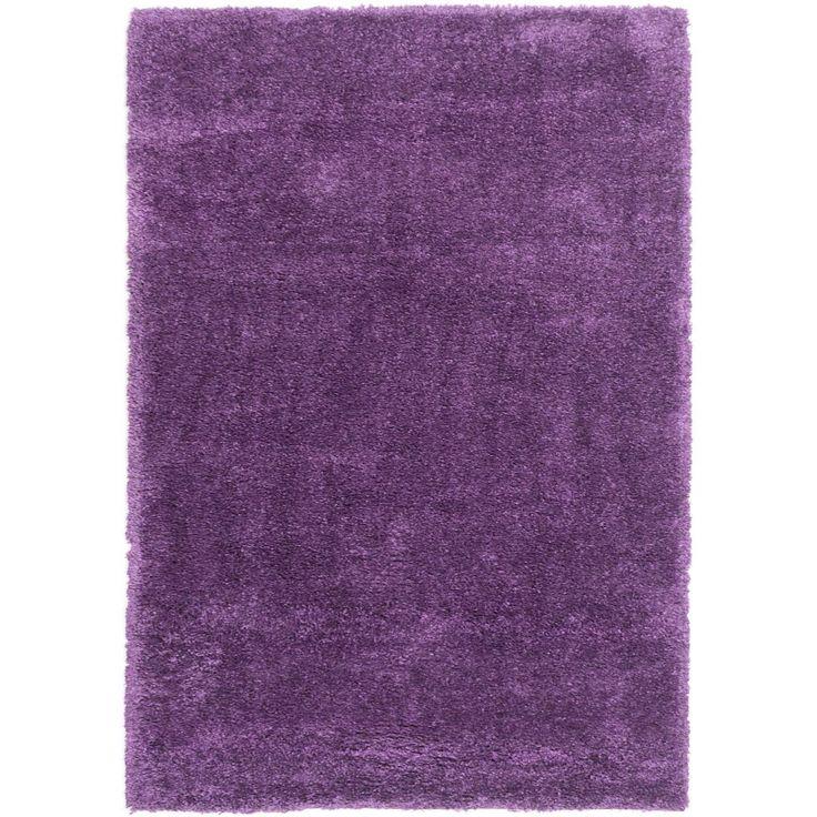 Ecarpetgallery Glamour Shag Purple Shag Rug (5'4 x 7'10) (Purple Shag (5' x 7')), Size 5' x 7' (Plastic, Solid)