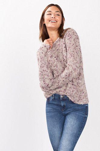 Esprit / Jersey con efecto tweed en mezcla de lana