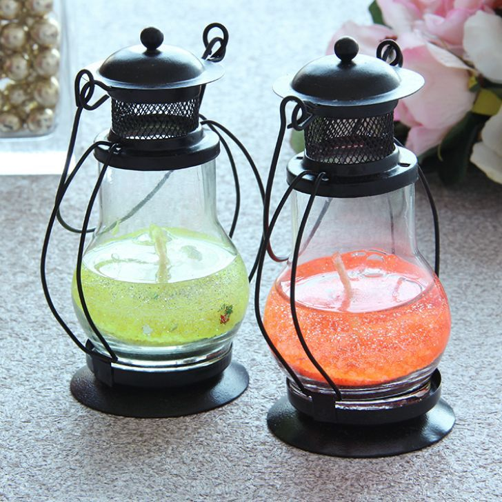 Home-decor-candles-Diwali-Lumina Gel Candle Lantern Set of Two Pieces - FabFurnish.com