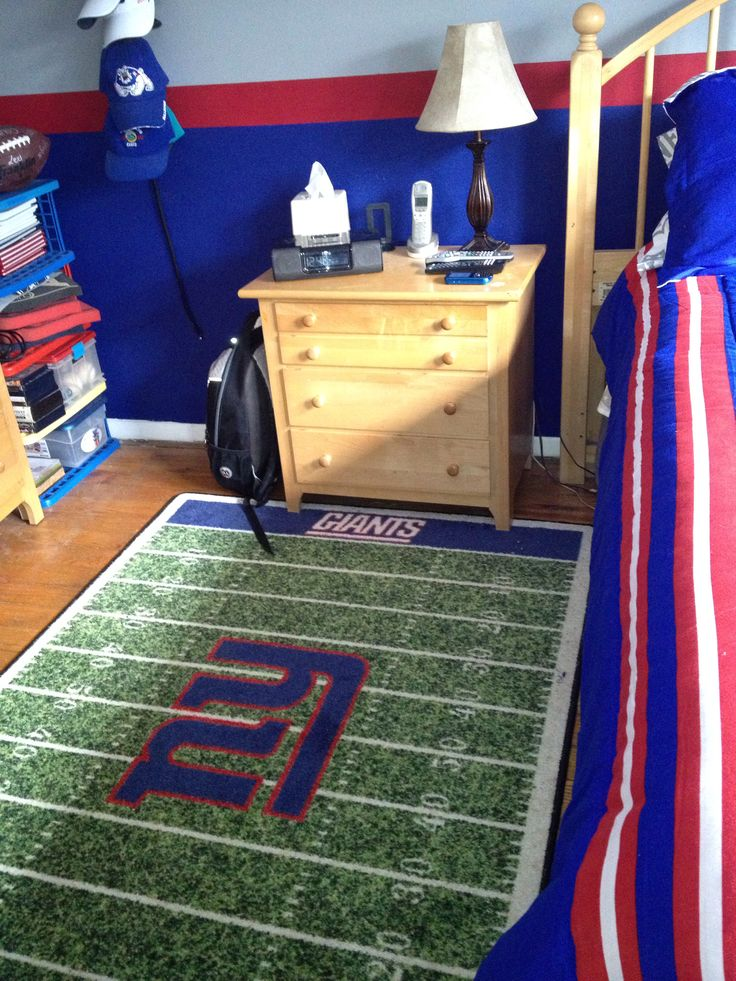NY Giants Rug | NY Giants Bedroom | Pinterest | Room, Bedrooms And Men Cave