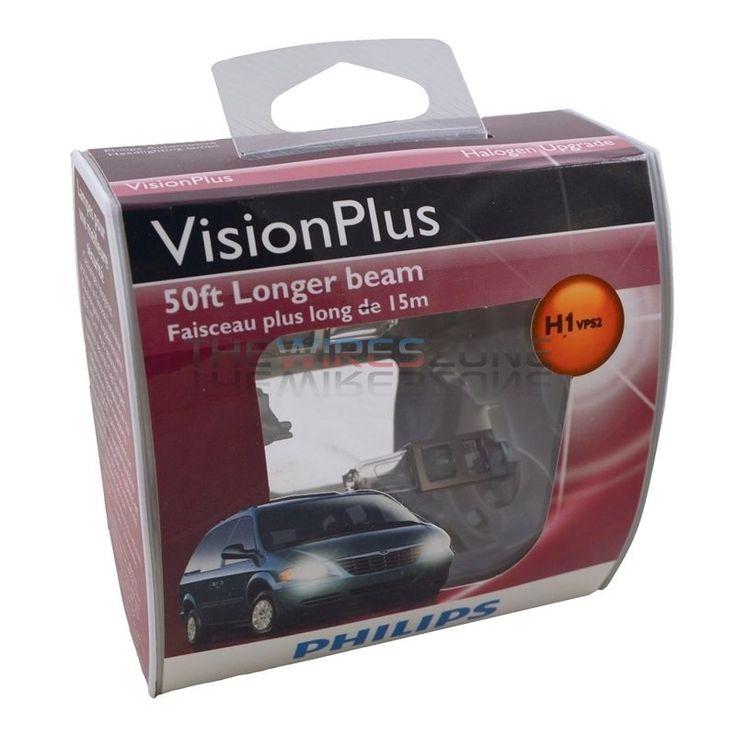 Philips Vision Plus H1 50ft Longer Beam 55W Halogen Car Headlight Bulb (pair) #Philips