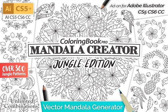 Mandala Creator Jungle Edition by everdrifter on @creativemarket