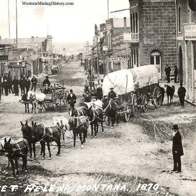 Main street Helena Montana 1870.Courtesy of Western Mining History.