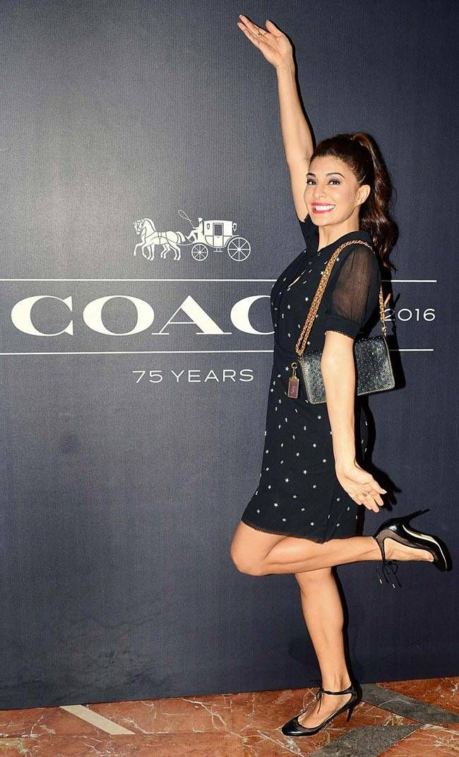 Jacqueline Fernandez at Coach store launch in Mumbai. #Bollywood #Fashion #Style #Beauty #Hot #Sexy
