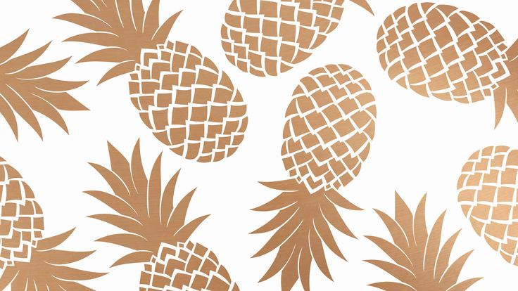 White gold pineapples desktop wallpaper background
