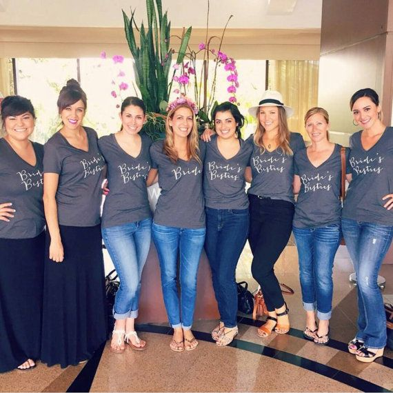 Matching tees for your whole bridal party!