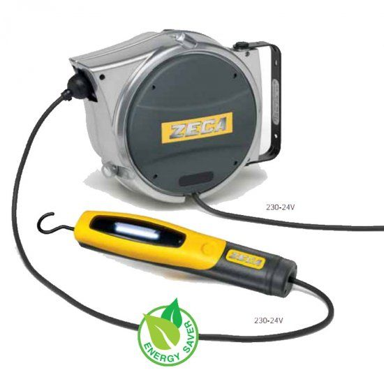 Avvolgicavi ZECA AL48/330 con lampada LED 330 24V