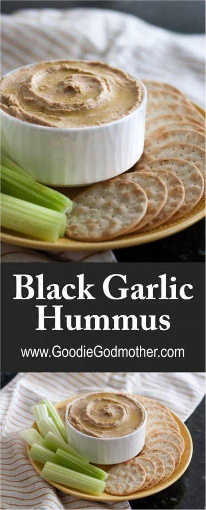 With a rich, mellow garlic flavor, black garlic makes a fantastic addition to hummus. Enjoy black garlic hummus in just a few minutes as a tasty snack! * Recipe on GoodieGodmother.com