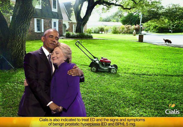 Cringeworthy Obama Clinton Hug Photo Gets Trolled - Gallery