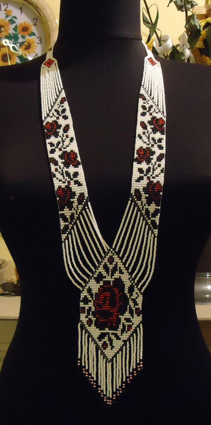 Free Shipping Ukrainian Handmade Jewelry Beaded by PysankaFolkArt