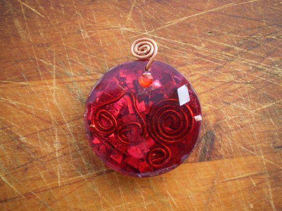 Reiki Healing Energy Christmas Orgonite Pendant  by Artgalleryraka