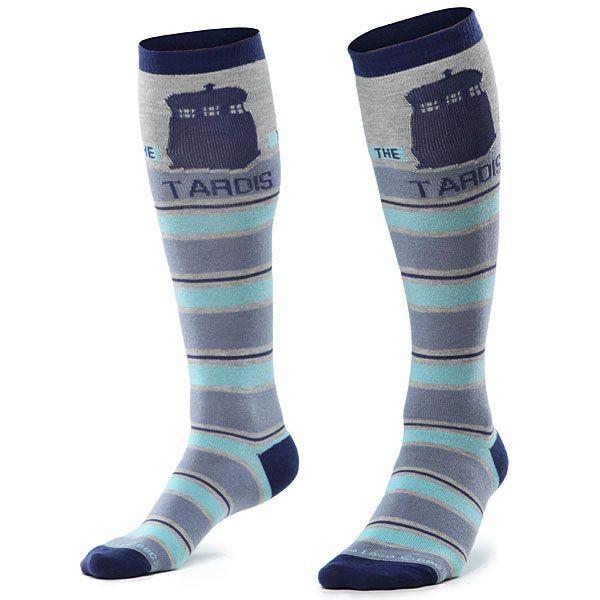 Tardis socks (Dalek socks available also)The Tardis, Doctorwho, Knee Socks, Doctors Who, Doctor Who, Tardis Socks, Knee Highs, Dr. Who, Knee High Socks