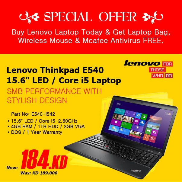 Lenovo Amazing Offer. Buy here: http://www.wantitbuyit.com/e540-i542.html or Call (+965) 97201347 or (+965) 22616127/28/2. Visit www.wanitbuyit.com #Best Deal