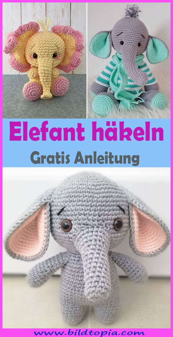 amigurumi elefant häkeln  kostenlose  einfache anleitung