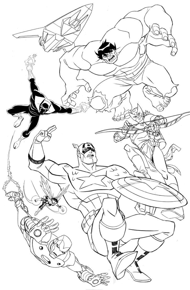 Coloring book pages avengers - Avengers Earth S Mightiest Heroes By Timlevins