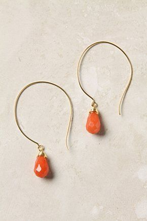 Dewdrop Earrings via Anthropologie... I love, love, love the hooks on these