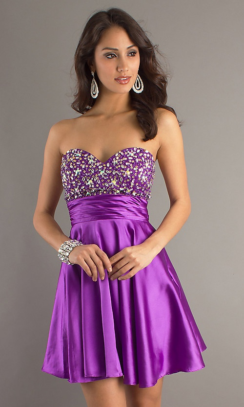Purple Cocktail Party Dresses for Teenagers