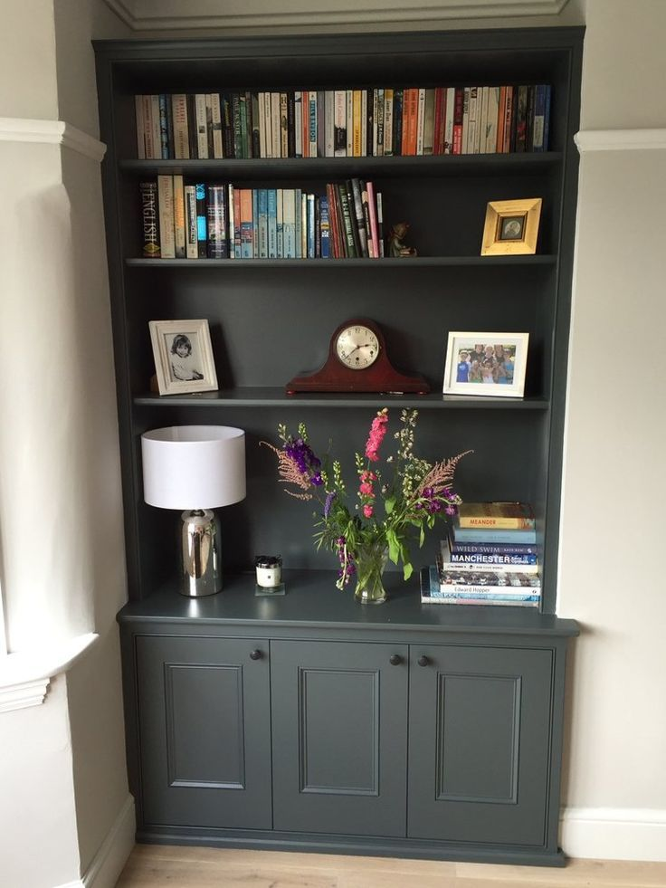 Image Result For Built In Bookcase Alcove Charcoal