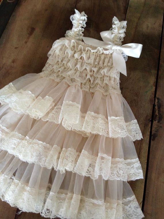 Flower Girl Dress  Lace Flower girl dress  Baby by PoshPeanutKids, $35.00