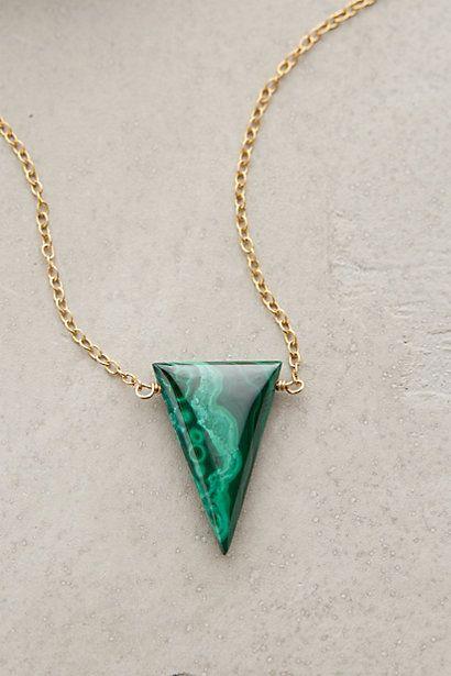 Malachite Triangle Necklace - anthropologie.com #anthrofave
