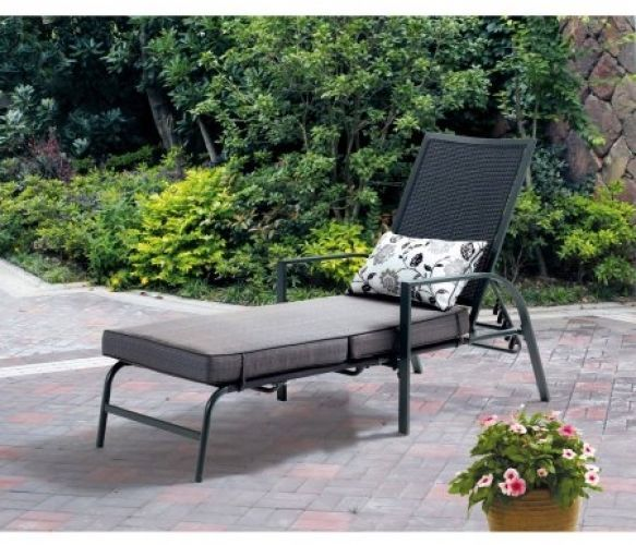 Square Chaise Lounge Gray Texture With Leaf Design #Mainstays