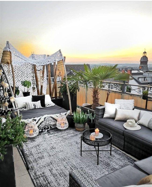51 Magnificent Rooftop Terrace Ideas Unique Balcony Garden Decoration And Easy Diy Ideas Terrace Decor Balcony Decor Rooftop Patio