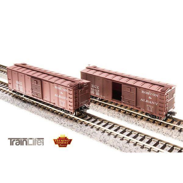N Scale: B&A Steel Boxcar - 4-pack (Corrugated ends, pre-1955 Roman Lettering)