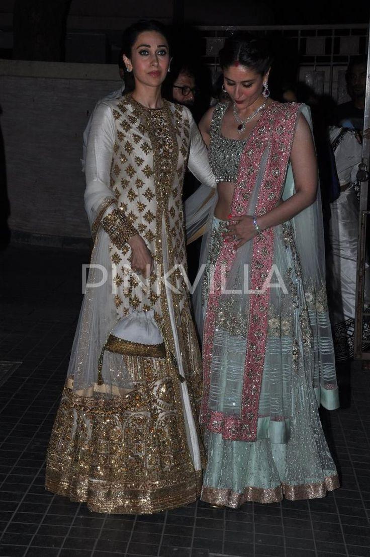 Karisma, Babita, Kareena, Saif at Soha's wedding reception   PINKVILLA
