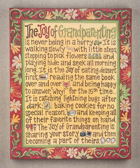 'Joy of Grandparenting' Canvas Art