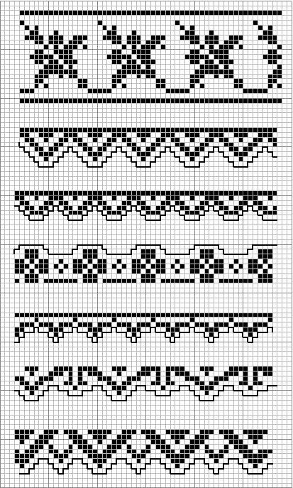 Gallery.ru / Фото #56 - MONOCOLOR - aaadelayda - Crochet / knit / stitch charts and graphs