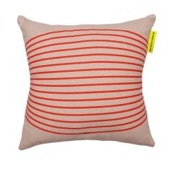 Lovely striped red cushion