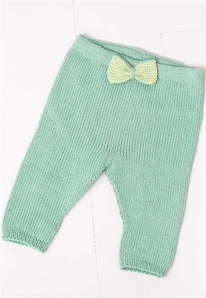 1408: Modell 4 Bukse med sløyfe #strikk #bomull