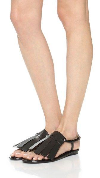 11 600,08 руб. | 175,00 $ KENZO Резиновые сандалии с бахромой