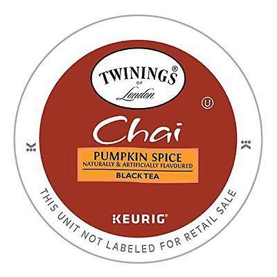 Twinings Pumpkin Spice Chai Tea, Keurig K-Cups, 12 count (Pack of 6)